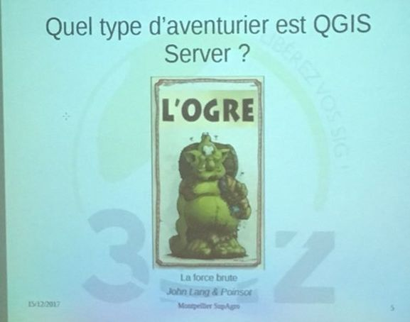 Surface Libre parrain du séminaire utilisateurs Qgis 2017